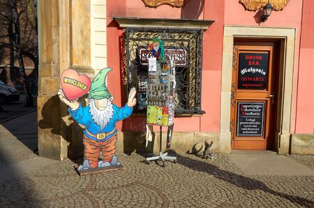 Poland. Wroclaw The figure of the gnome in Wroclaw. February 20, 2018 Publikacyjne