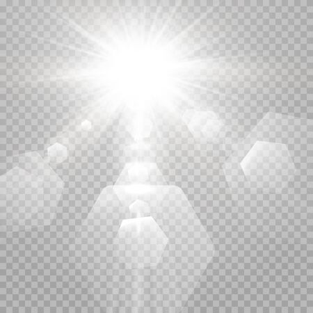 Abstract transparent sunlight special lens flare light effect. Vector blur
