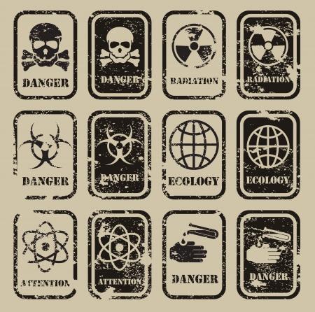army gas mask: peligro