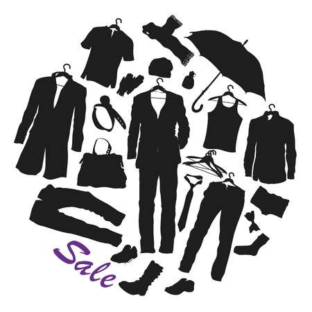 closets: clothing Illustration