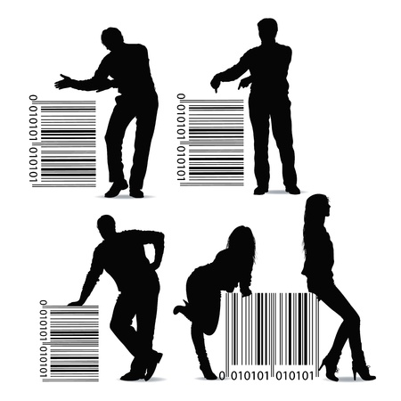 medical distribution: barcode Illustration