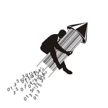 computer language: barcode Illustration