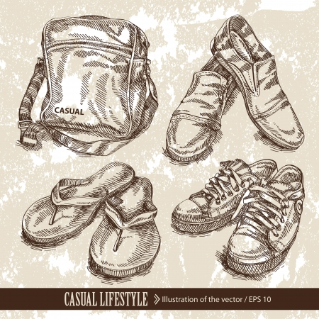 sports shoe: Clothing Illustration