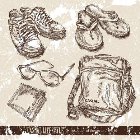 business shoes: Clothing Illustration