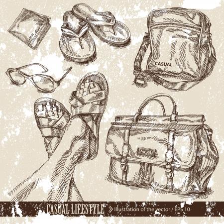 attrition: shopping Illustration