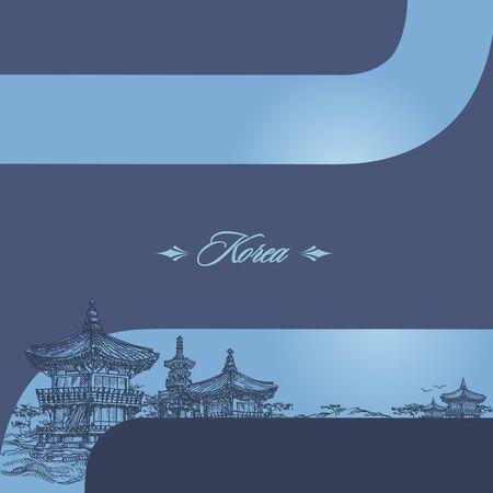 korean style house: Korea Illustration