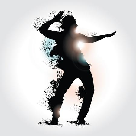 bailarines de salsa: bailarín Vectores