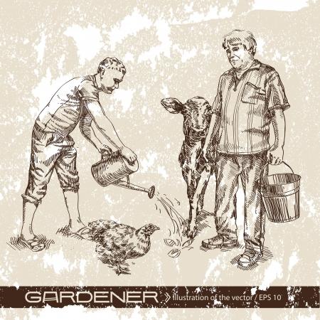 watering: vader en zoon
