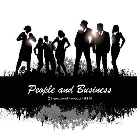 centre d affaires: publicit� Illustration
