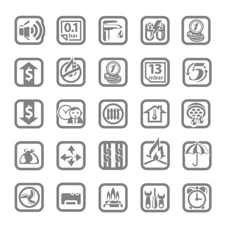 sensores: equipamiento del hogar Vectores
