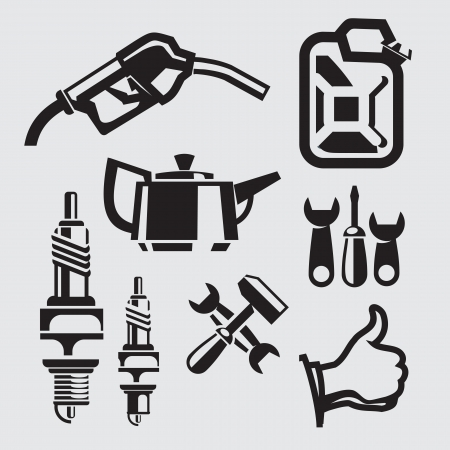 spare part: gasoline Illustration