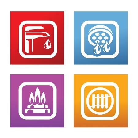 plomeria: calefacción Vectores