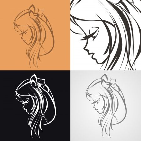 hair dresser: beautiful lady Illustration