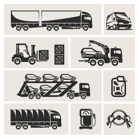 tow tractor: transportation Illustration