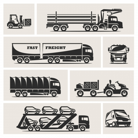 loading truck: transportation Illustration
