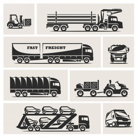 truck driver: transportation Illustration