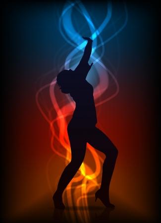 danseres silhouet: mooi Stock Illustratie