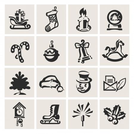 canneberges: Ic�nes de No�l Illustration