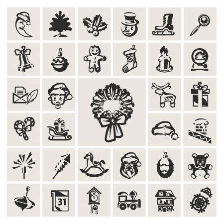 Christmas Icons Stock Vector - 16304368