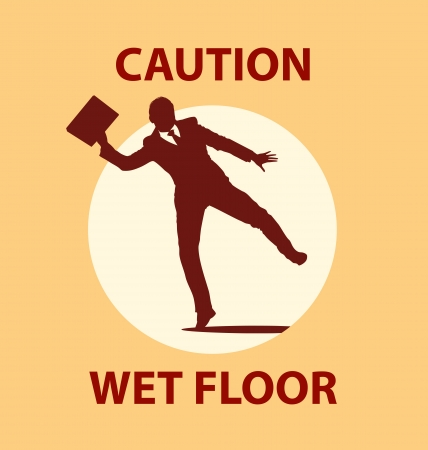 Wet floor Vector