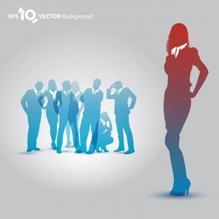 통로: 사업 사람들