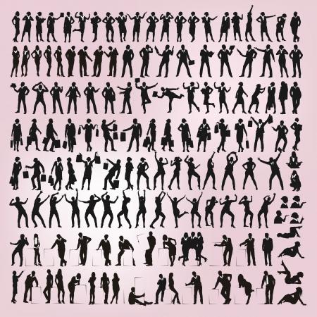 bailarines silueta: silueta