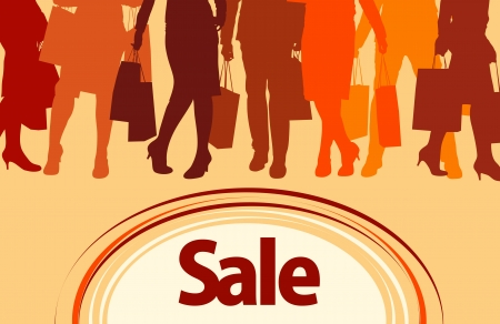 shopping sale poster Stock Vector - 16527062
