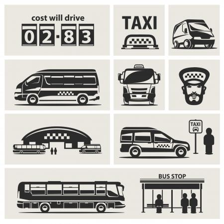 servicios publicos: Taxi de conjunto de servicios
