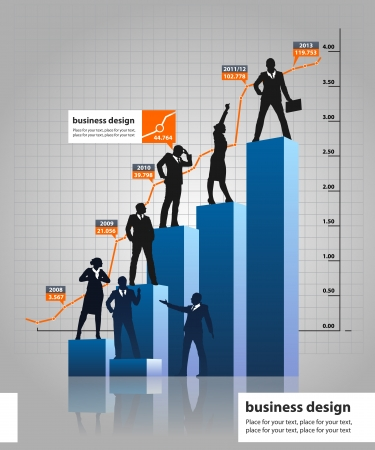 conversing: Business People Silhouette