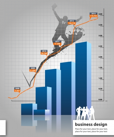 graphic business diagram collection: statistics