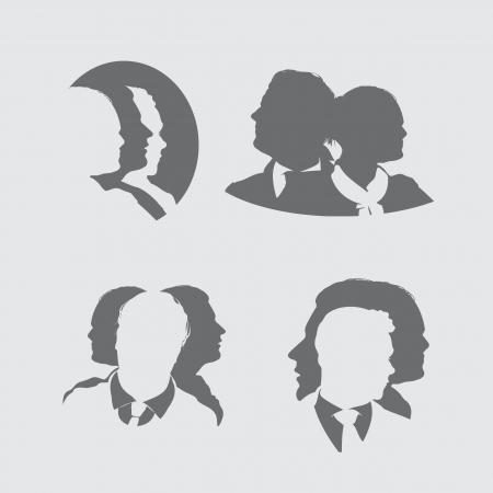corporate hierarchy: uomini d'affari