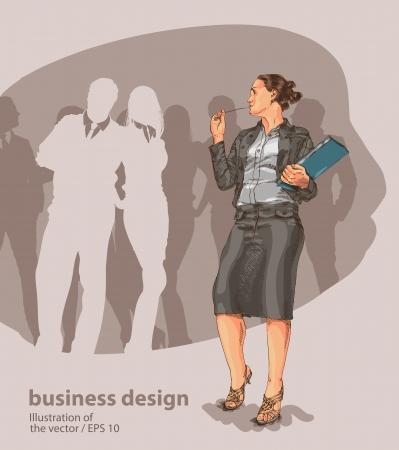 mujer de negocios Ilustración de vector
