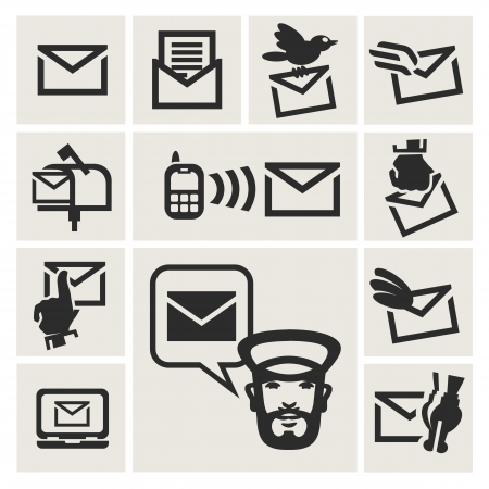 mailbox: message icons set