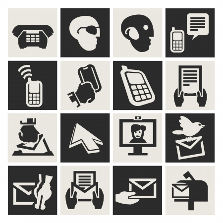 communication icons set Stock Vector - 17740749