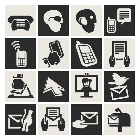 communication icons set Stock Vector - 17740749