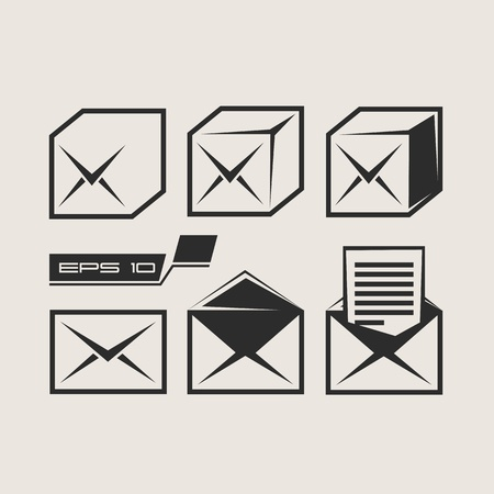 Mail icons set Stock Vector - 17894765