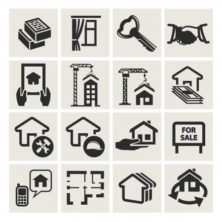 real estate icons Stock Vector - 17894763