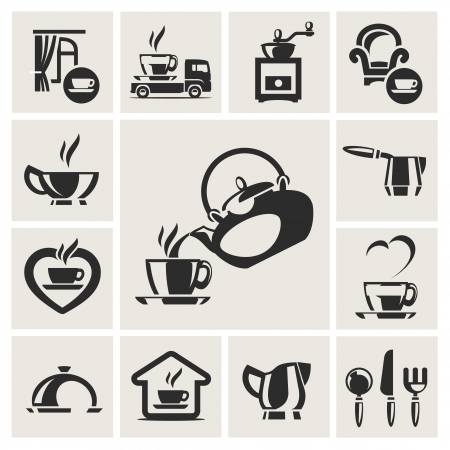Cafe icon set Stock Vector - 17894762