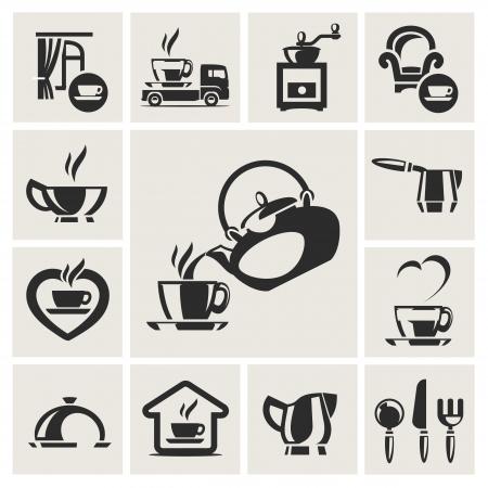 Cafe icon set Stock Vector - 17894762