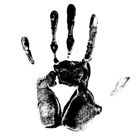 hand palm: print