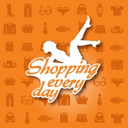 catwalk model: shopping ogni giorno Vettoriali