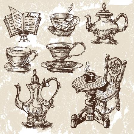 chicchi caff� su sfondo bianco: Coffe cup astratto