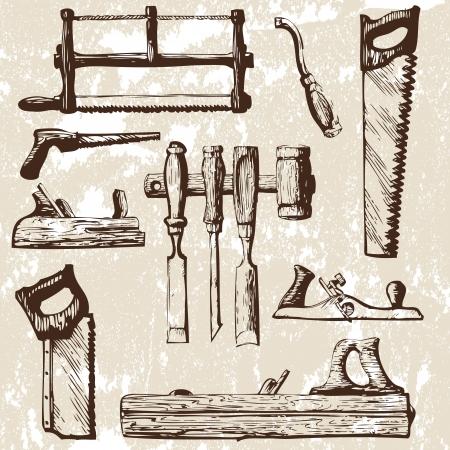 herramientas de carpinteria: un conjunto de herramientas
