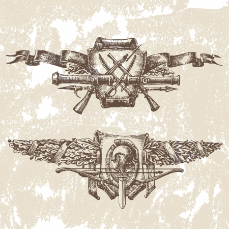 sabel: Heraldiek Stock Illustratie