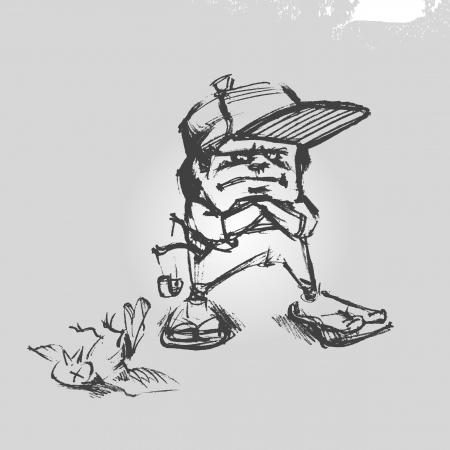 Angry boy Vector