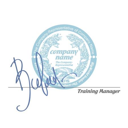 De ondertekening van het contract. Vector Illustratie
