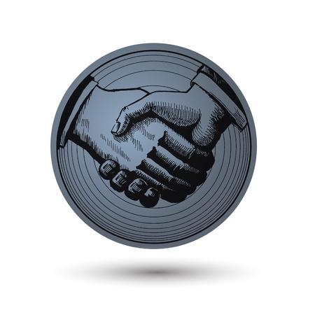 businesslike: Apret�n de manos.