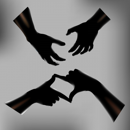 gravure: Hands  illustration