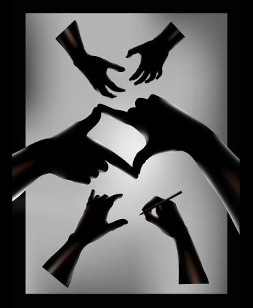 Human hand  illustration Stock Vector - 18608813