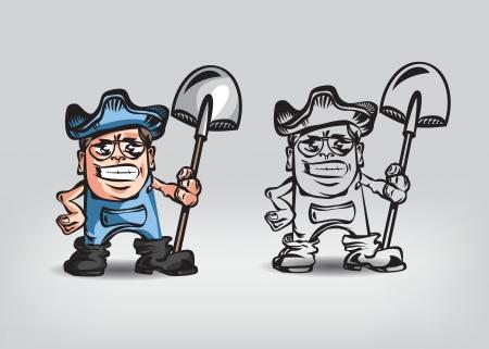 granger: Farmer. Vector illustration Illustration